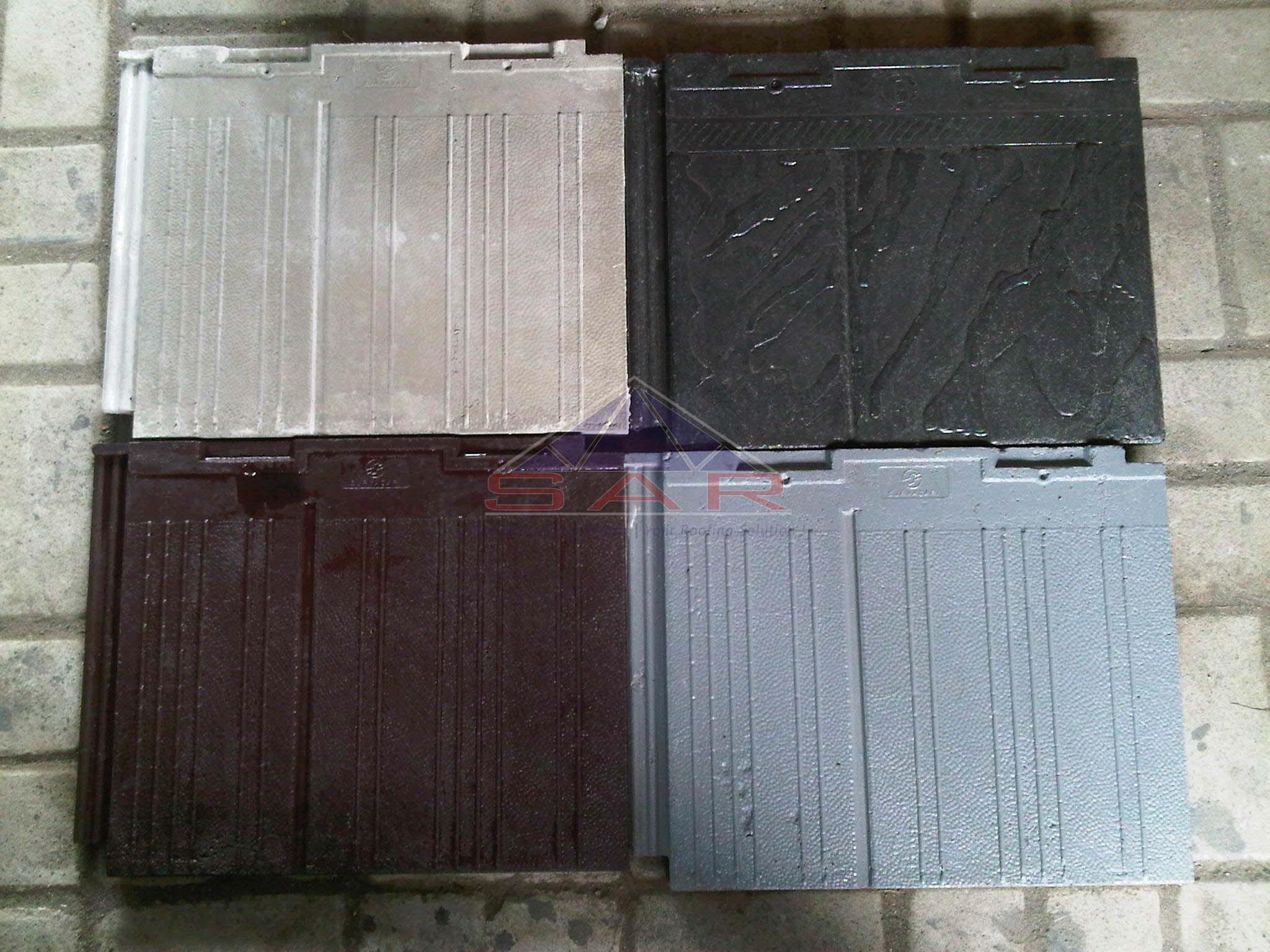 Genteng Beton Flat Warna