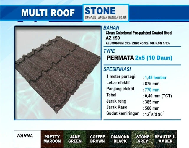 Genteng Multiroof Stone Permata