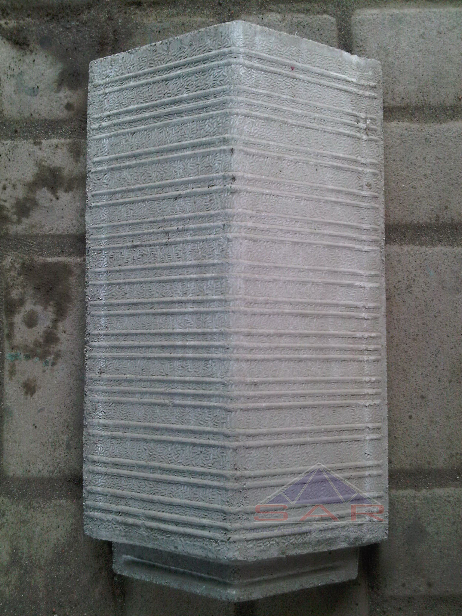 wuwung genteng beton flat garis