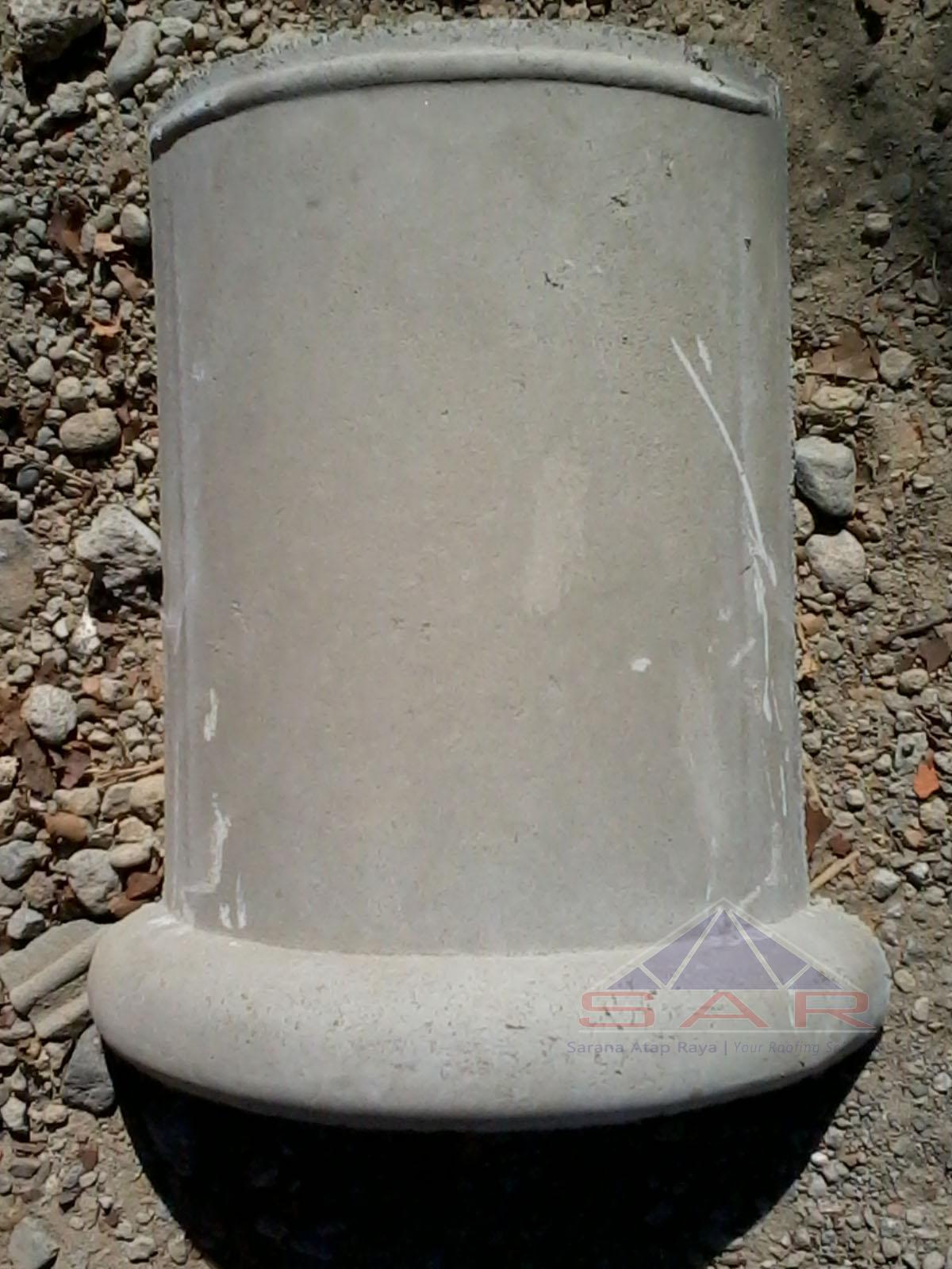 wuwung genteng beton bulat