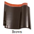 genteng keramik kanmuri brown