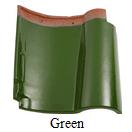 genteng keramik kanmuri green