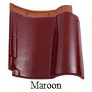 genteng keramik kanmuri maroon