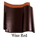 genteng keramik kanmuri medi wine red