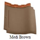 genteng keramik kanmuri medi Brown