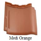 genten keramik kanmuri medi orange