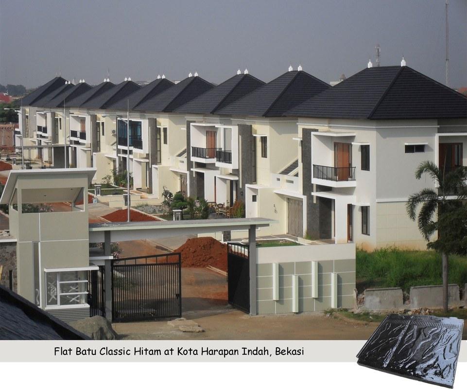 proyek genteng beton mutiara flat multiline warna hitam sarana atap raya
