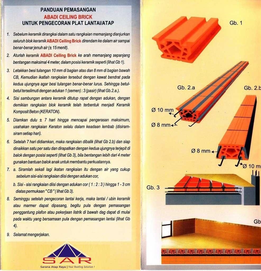 cara pemasangan dak kraton surabaya